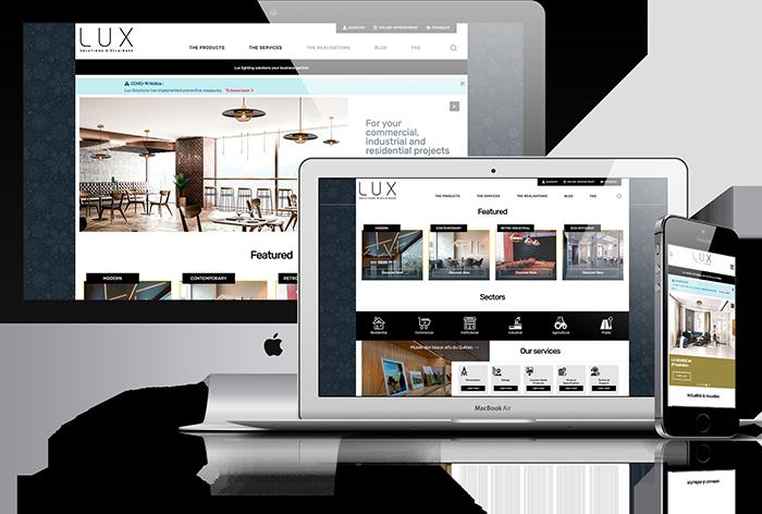 Nouveau site web de LUX Solutions d'Éclairage