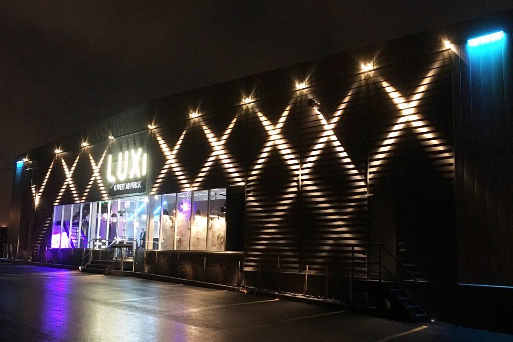 LUX Lighting Solutions illuminated headquarters