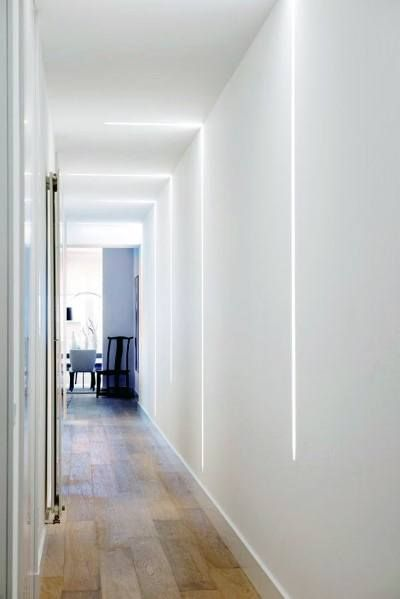 Éclairage LED encastré au mur