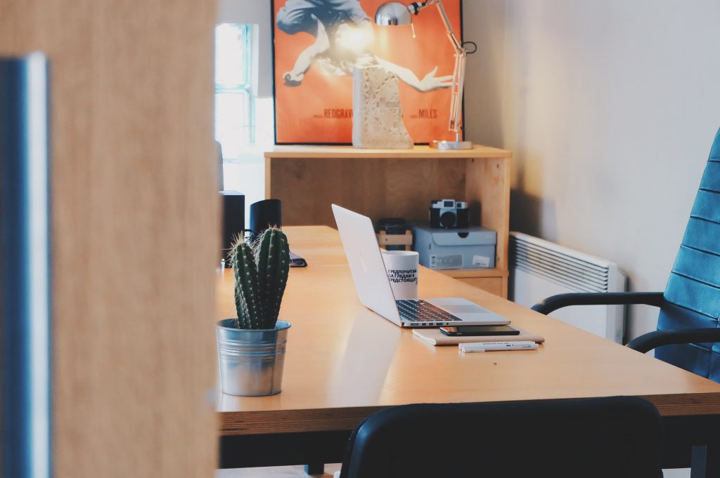 Office with Cactus