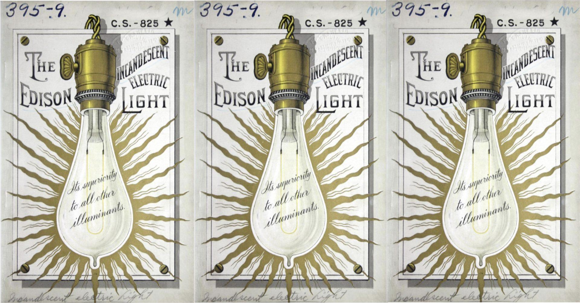 L'ampoule incandescente de Thomas Edison. L'histoire de l'éclairage
