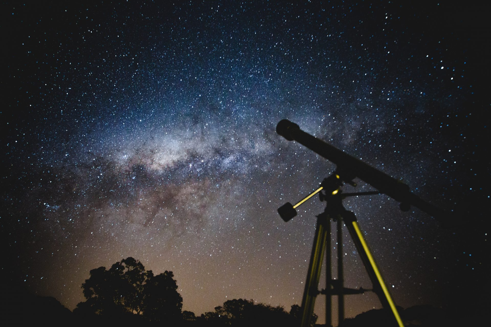 telescope with the milky way