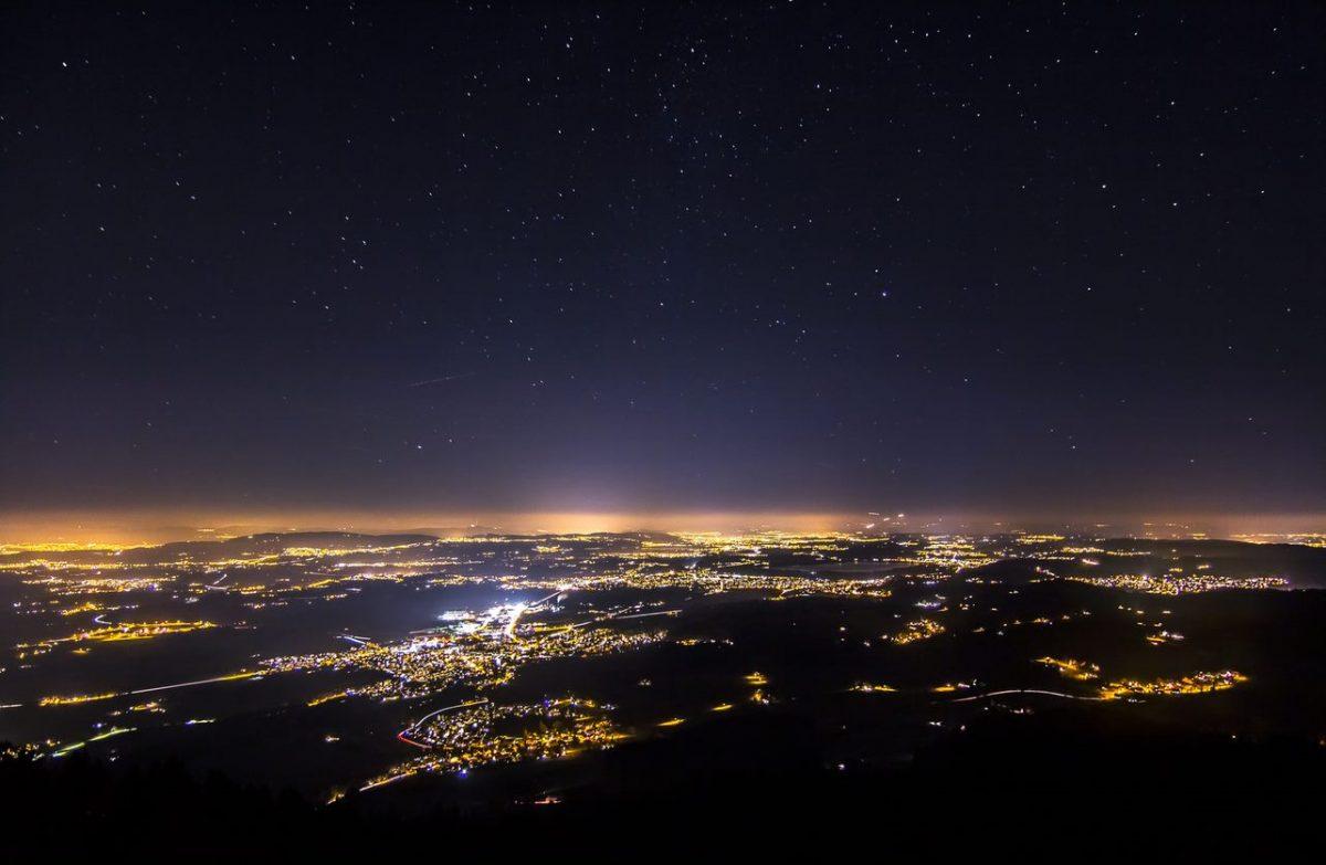 Pollution Lumineuse d'une ville