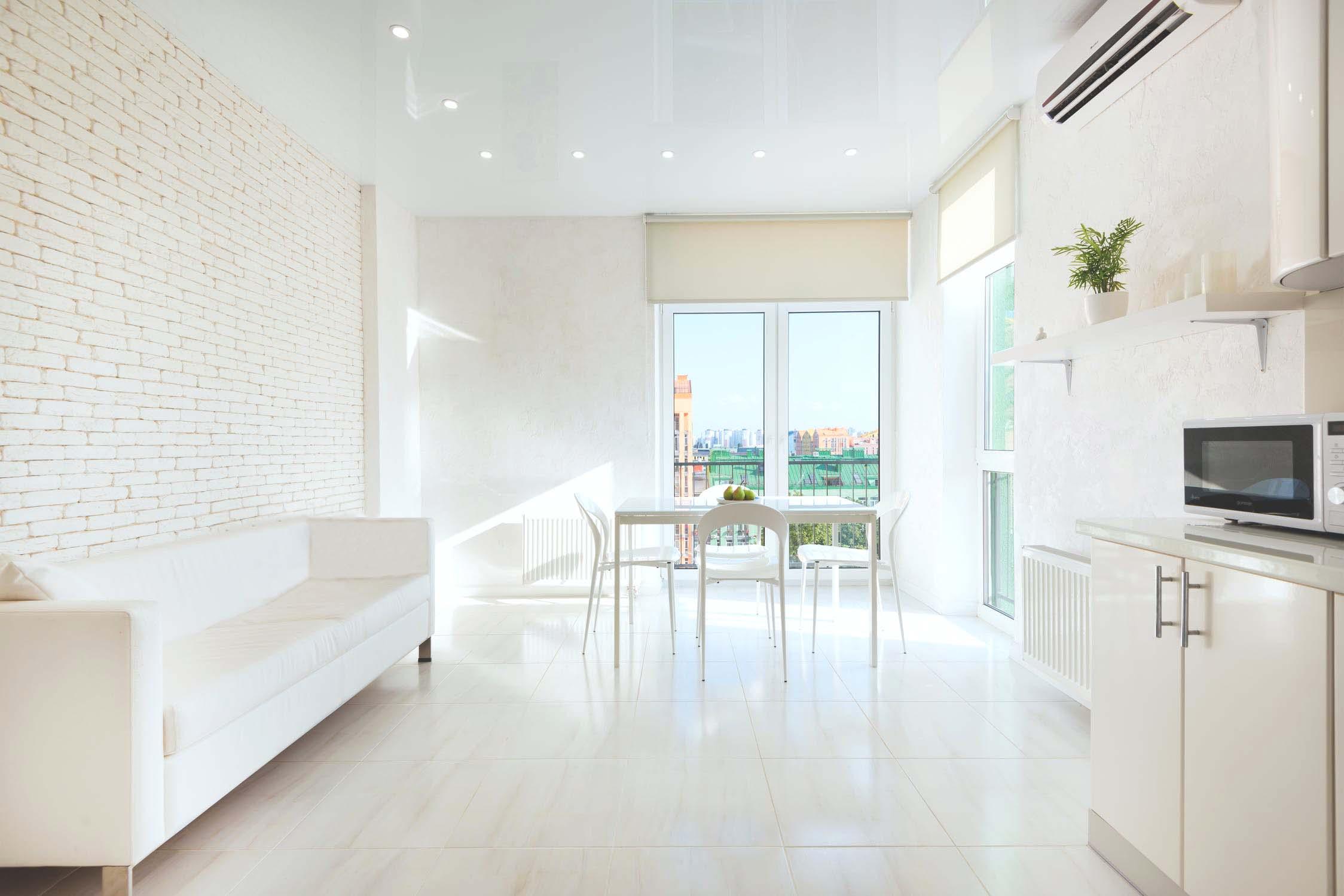 white room lit by natural light